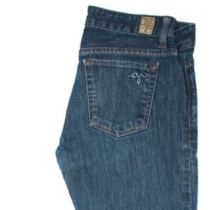 GUESS NAVY BLUE STRETCH JEANS SIZE 27